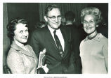 Mary Louise Smith with couple at Republican Women's Conference, 1968