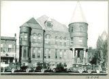 Cars on Iowa Avenue by Close Hall, The University of Iowa, November 1929