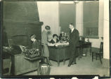 Daily Iowan office with Professor Charles Weller, right, The University of Iowa, 1920s
