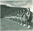 Scottish Highlanders performing at Iowa vs. Illinois football game, The University of Iowa, November 1, 1952
