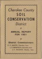 Cherokee County Soil Conservation District Annual Report - 1951