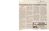 Environment Focus Of Legislative Forum