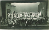 Full company and orchestra of the opera Cavalleria rusticana, The University of Iowa, April 1938
