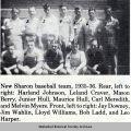 New Sharon High School Baseball Team, 1935-36; Mahaska County; Iowa