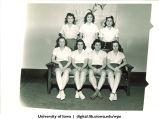 Student athletes, The University of Iowa, 1940s