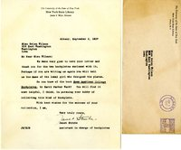 Janet Strube letter to Helen Patricia (Patsy) Wilson exchanging bookplates.