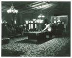 Billiards competition in the Iowa Memorial Union, the University of Iowa, 1950s?