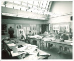 Art students in printmaking studio, The University of Iowa, 1960s