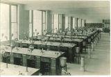 Freshmen laboratory at Trowbridge Hall, The University of Iowa, 1917