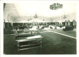 Furniture scattered in Main Lounge of Iowa Memorial Union, the University of Iowa, March 25, 1932