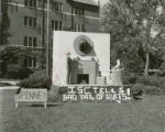 Spinney House of Friley Hall lawn display, Homecoming, 1954
