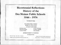 003_Title Page - Bicentennial Reflections-History of the Des Moines Public Schools 1846-1976