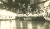 Old Armory decorated for military ball, The University of Iowa, 1911