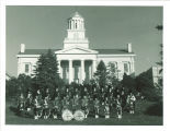 Scottish Highlanders in front of Old Capitol, The University of Iowa, 1978