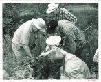 Dr. R.L. King with field biology class at Iowa Lakeside Laboratory, West Lake Okoboji, 1960s