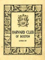 Harvard Club of Boston Bookplate