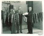 Ribbon-cutting ceremony at Midwest Inter-Library Center in Chicago, The University of Iowa, October 5, 1951