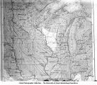Map of currents of glaciers in the neighborhood of the driftless area, late 1890s or early 1900s