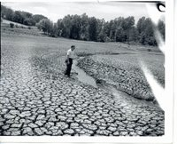 Union Grove Lake drained, 1970