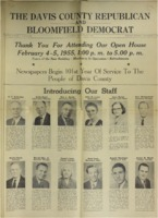 1955 - Davis County Republican and Bloomfield Democrat newspapers celebrate 100 years