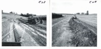 Shaping a waterway on Bill Goetler farm, 1968
