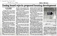 Zoning Board Rejects Housing Development Proposal