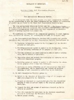 1946  Memorandum of Understanding between the Des Moines County Soil Conservation District and the  Iowa Agricultural Extension Service
