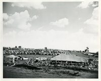 1948 - Field Day Tent and Parked Cars
