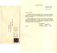 George Corey letter to Helen Patricia (Patsy) Wilson exchanging bookplates.
