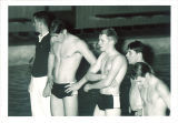 Swimmers at high school swim meet, The University of Iowa, March 1967