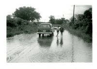 1958 Flood Waters On Road