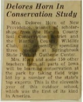 Teacher, Delores Horn, in conservation study.