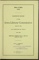 18. Eighteenth Report of the Iowa Library Commission