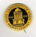 Homecoming badge, October 11, 1947