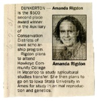 Scholarship for Amanda Rigdon