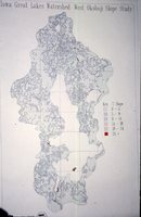 Iowa Great Lakes Watershed - West Okoboji Slope Study Map.
