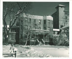 East Hall main entrance in winter time, The University of Iowa, 1956