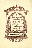 Lorraine M. Eaton Bookplate