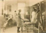 Kitchen in Children's Hospital, The University of Iowa, 1923