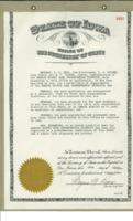 1945 Certificate of Understanding