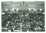 University Orchestra and Chorus performing in Iowa Memorial Union, The University of Iowa, May 1967