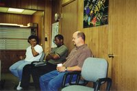 The Covington's and Shawn Dettmann at the open house in May 2000.
