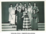 Women's Physical Education department faculty at the Majors Banquet, The University of Iowa, May 1953