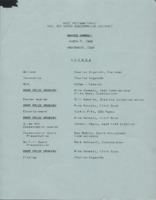Awards banquet agenda, 1988.