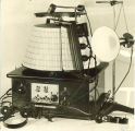 Early radio receiver, The University of Iowa, 1917