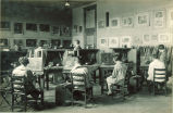 Still life studio with students painting, The University of Iowa, 1920s