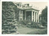 Front exterior grounds of the university president's house, The University of Iowa, 1930s