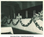 Old Capitol centerpiece at Centennial Dinner, Iowa Memorial Union, University of Iowa, February 25, 1947