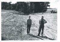 Vince Nemmers farm waterway construction, 1965