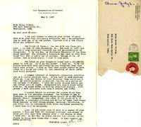 J. Paul Suter letter to Helen Patricia (Patsy) Wilson exchanging bookplates.